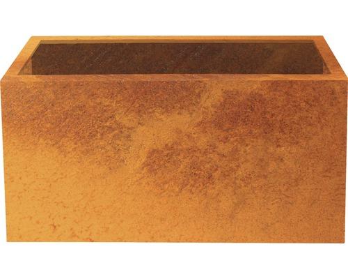 Bac à plantes Lotte 100 x 40 x 50 cm métal marron