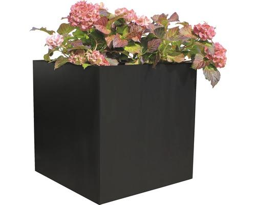 Bac à plantes Nora 60 x 60 x 60 cm métal anthracite