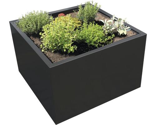 Bac à plantes Clara 80 x 80 x 50 cm métal anthracite