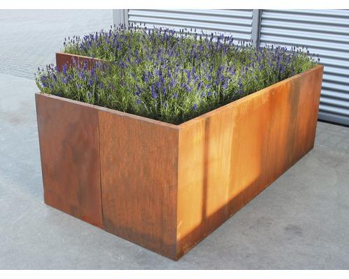 Jardinière surélevée classique palatino Urban 100 x 100 x 70 cm acier Corten