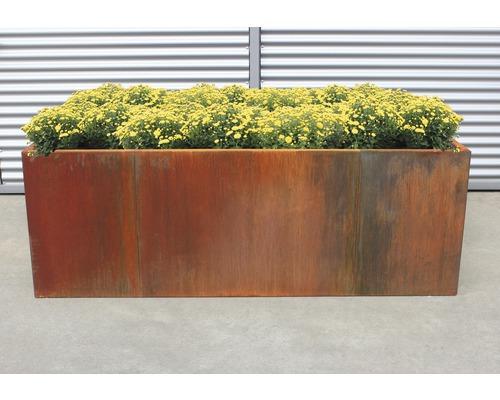 Jardinière surélevée classique palatino Urban 300 x 100 x 70 cm acier Corten
