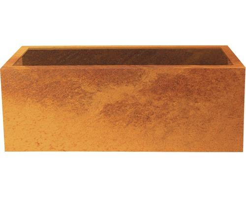 Bac à plantes Palatino Lotte acier Corten 150x40x50 cm rouille
