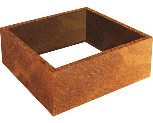 Cadre à plantes Carlotta 100 x 100 x 25 cm métal marron