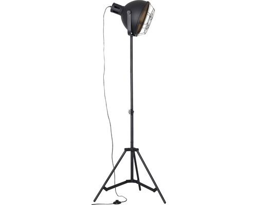Lampadaire en métal à 1ampoule Jesper noir hxØ1665x390mm
