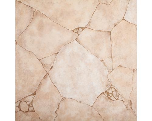 PVC Togo aspect pierres concassées beige largeur 300cm (marchandise au mètre)