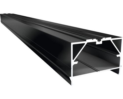 Soubassement Big Isostep avec canal de vissage aluminium 45x64x4000 mm