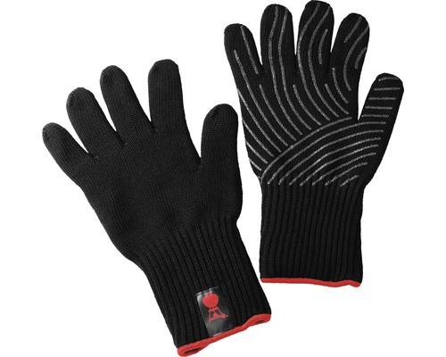 Kit gant de barbecue Weber manique Kevlar L/XL résistant à la chaleur jusqu''à 250 °C matériau extérieur 100% aramide noir