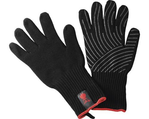 Kit gant de barbecue Weber manique Kevlar S résistant à la chaleur jusqu''à 250 °C matériau extérieur 100% aramide noir