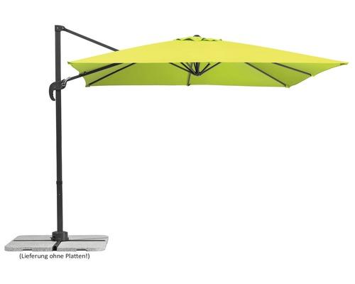 Parasol déporté Schneider Rhodos Junior 270x270x240cm polyester 180g/m² vert