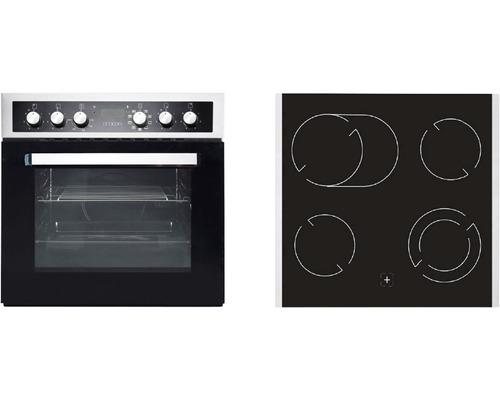 Ensemble cuisinière PKM BIC8 2KB GK IX-4 volume utile 76l avec plaque de cuisson vitrocéramique