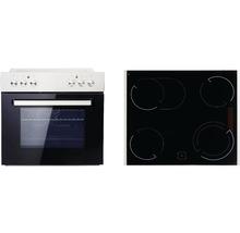 Ensemble cuisinière PKM BIC7-2KB GK-IX4 volume utile 76l avec plaque de cuisson vitrocéramique-thumb-0
