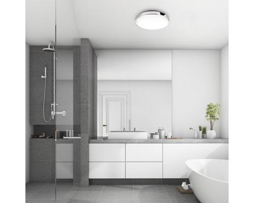 Plafonnier de salle de bain IP44 13W 1200lm 4000K blanc neutre blanc chrome hxØ65x285mm