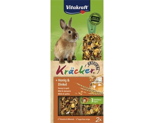 Snack pour rongeurs Vitakraft Kräcker® au miel, lapins nains, 2 pièces, 112g
