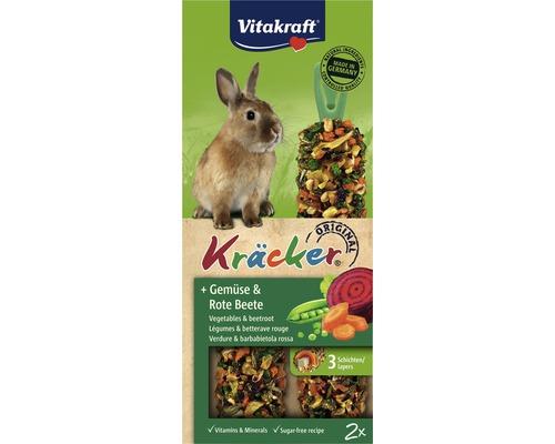 Snack pour rongeurs Vitakraft Kräcker® aux légumes pour lapins nains, 2 pièces, 112g