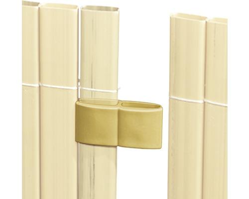 Attaches de tapis, 4 pces bambou
