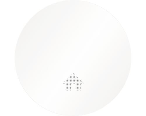 Détecteur de fumée Slim Design blanc HxØ 40x125mm Label Q