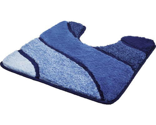 Badteppich Kleine Wolke Wave Marineblau 55 x 55 cm mit Ausschnitt
