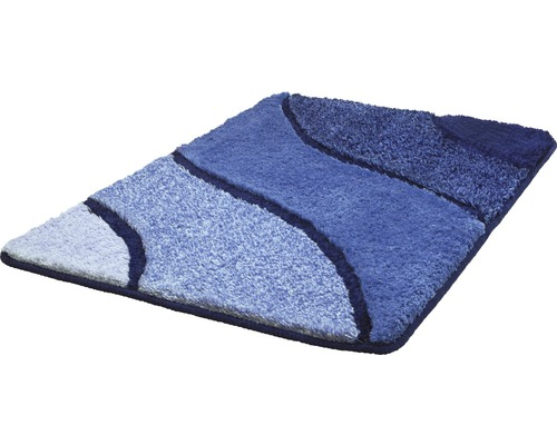 Badteppich Kleine Wolke Wave Marineblau 70 x 120 cm