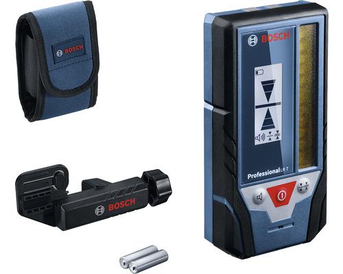 Récepteur laser Bosch Professional LR7 avec 2 piles (AA) et kit d''accessoires