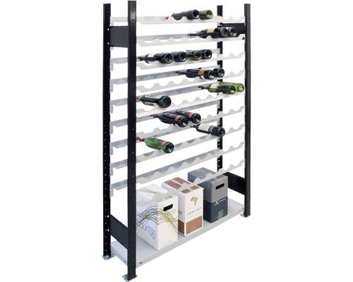 Étagère à vin, étagère de base Schulte 1800x1000x250 mm pour 72 bouteilles