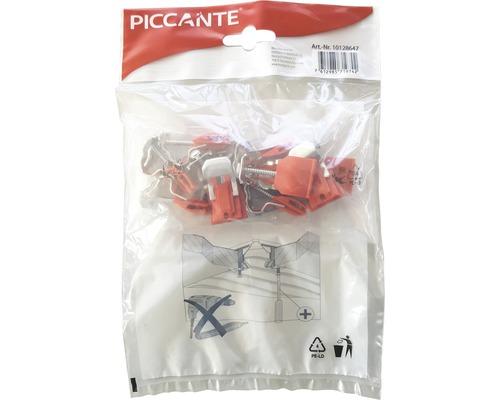 Matériel de fixation pour éviers en acier inoxydable PICCANTE (composé de 10 pinces)-0