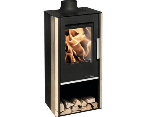 Poêle Haas & Sohn Engadin EcoApp 283.15 pierre naturelle 6 kW avec compartiment à bois