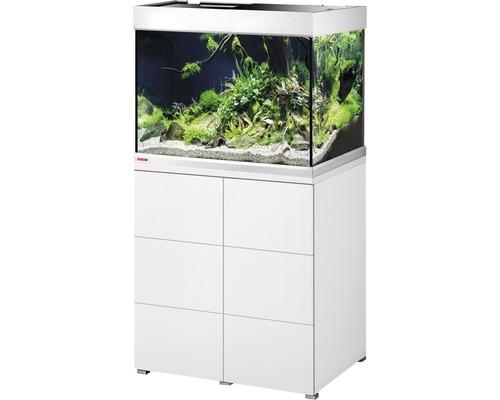 Kit complet d''aquarium EHEIM proximaTEC 175 avec filtres, éclairage LED, chauffage, meuble bas blanc