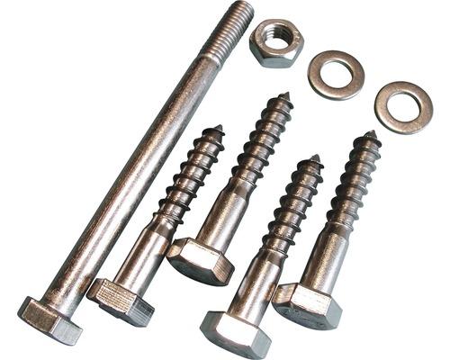 Kit de fixation acier inoxydable A2 pour support pour poteau 91mm