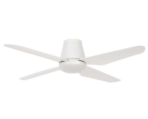 Ventilateur de plafond Airfusion Aria CTC blanc Ø 122 cm fonction été + hiver avec télécommande + ampoule LED