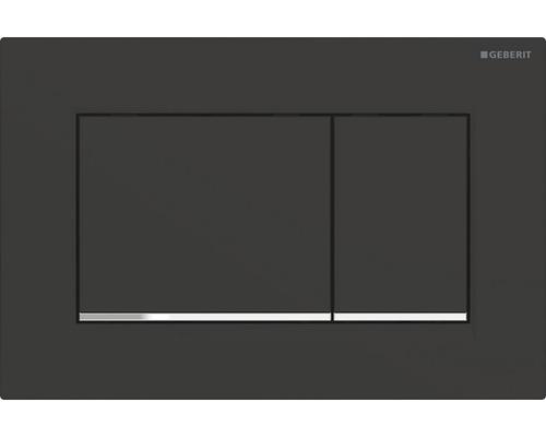 Plaque de commande GEBERIT Sigma 30 noir mat/chromé 115.883.14.1