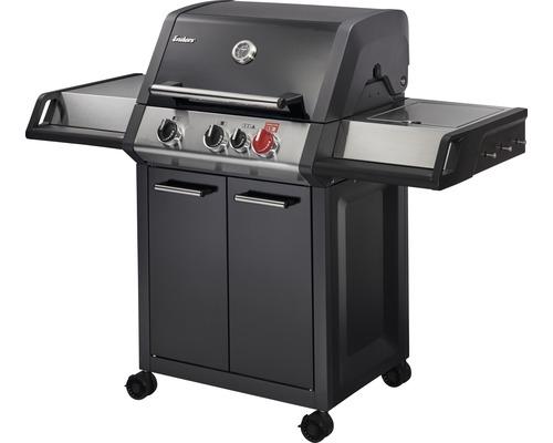 Barbecue à gaz Enders Monroe black Pro 3 K Turbo 3 brûleurs noir acier inoxydable avec lèchefrite extractible