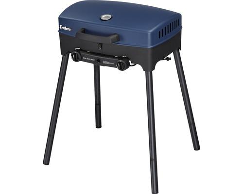 Barbecue de table Enders Explorer Next 2 brûleurs 50 mbar bleu avec lèchefrite extractible