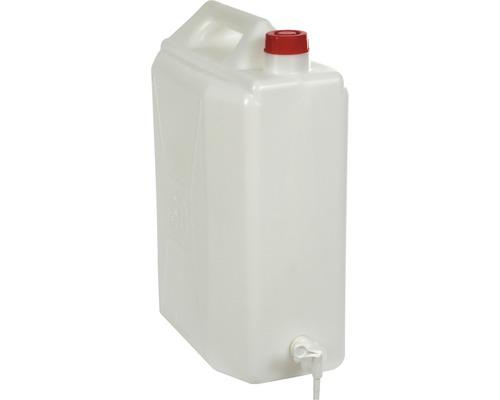 Bidon d''eau avec robinet, utilisable pour denrées alimentaires, 30l