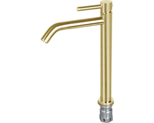 Robinet de lavabo coudé modèle haut cuivre
