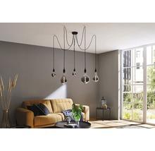 Ampoule globe LED à intensité lumineuse variable G125 verre fumé E27 4W(14W) 130lm 2700K blanc chaud-thumb-3
