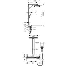 Colonne de douche avec thermostat hansgrohe Rainmaker Select Showerpipe 460 2jet blanc/ chrome 27109400-thumb-1