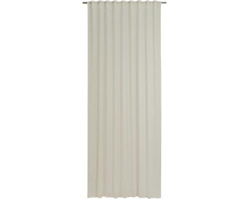Rideau avec galets fronceurs Liem beige 140x255 cm