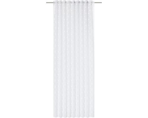 Rideau avec galets fronceurs Fluffy Dots blanc 140x255 cm