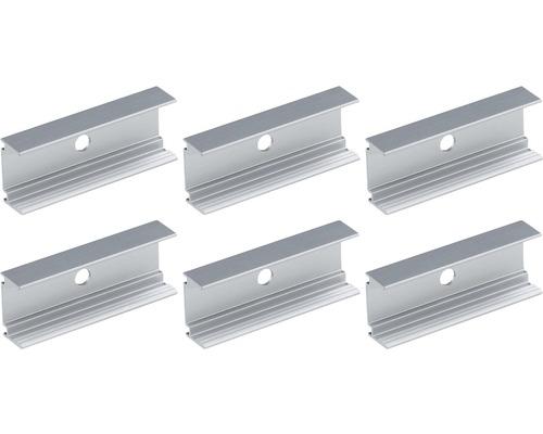 Clips de fixation pour ruban LED Paulmann Outdoor Paulmann Plug & Shine 6 pièces