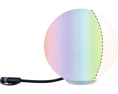 Objet lumineux Plug & Shine ZigBee Paulmann RGBW IP65 2,8W110 lmØ 200 mm Globe blanc 230/24 V–Compatible avec SMART HOME by HORNBACH-0
