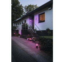 Borne LED Philips hue extension Fuzo White and color ambiance 8W 1200 lm noir h 400 mm - compatible avec SMART HOME by HORNBACH-thumb-4