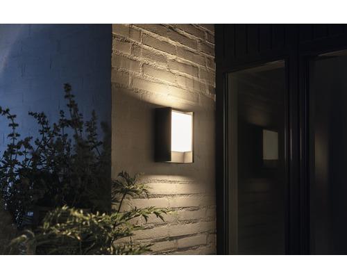Applique murale LED Philips hue Fuzo White Ambiance 15W 1150 lm 2700 K blanc chaud noir h 221 mm - compatible avec SMART HOME by HORNBACH-0
