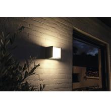 Applique murale LED Philips hue Fuzo White Ambiance 15W 1150 lm 2700 K blanc chaud noir 130x140 mm - compatible avec SMART HOME by HORNBACH-thumb-0