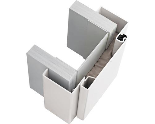 Cadre de porte en acier Hörmann VarioFix MW 100 875x2000 mm tirant gauche RAL 9010 blanc revêtu par poudre
