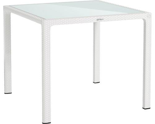 Table de jardin Lechuza en plastique 90 x 90 cm blanc