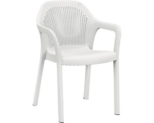 Chaise empilable Lechuza en plastique blanc