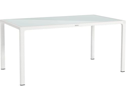 Table de jardin Lechuza en plastique 160 x 90 cm blanc