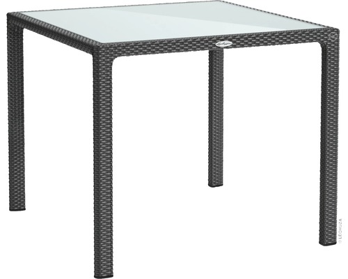 Table de jardin Lechuza en plastique 90 x 90 cm granit