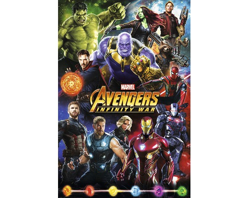 Maxiposter Avengers-characters 61x91,5cm