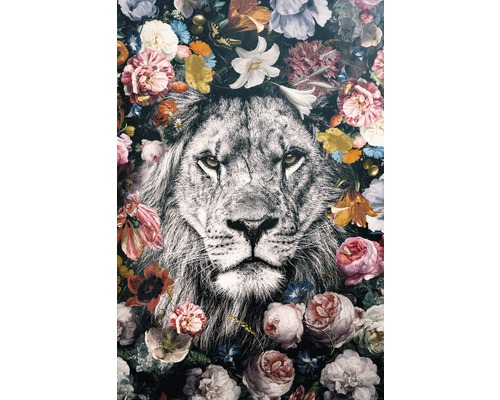 Maxiposter Lion Flowers 61x91,5cm